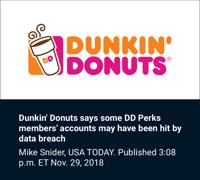 Dunkin Donuts Breach