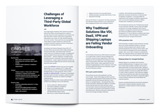 Challenges of leveraging a third-party global workforce