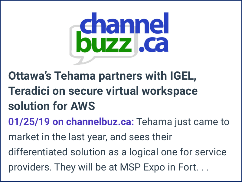 Channel Buzz Tehama Partners with IGel