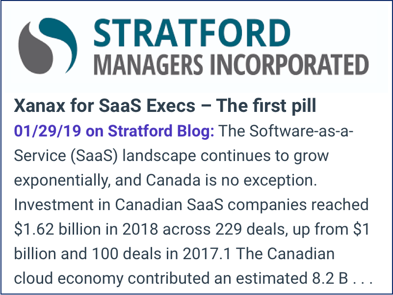 Stratford Managers Inc Blog Xanax for SaaS Execs